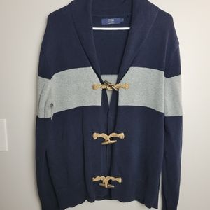 J.Crew Mens Nautical Sweater Cardigan Large